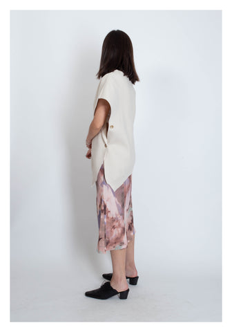 Abstract Pattern Mixed Colour Skirt Pink - whoami
