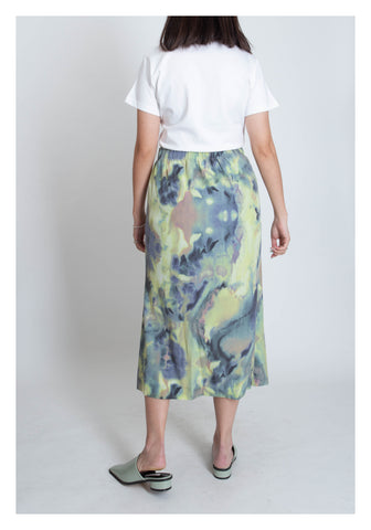 Abstract Pattern Mixed Colour Skirt Yellow - whoami