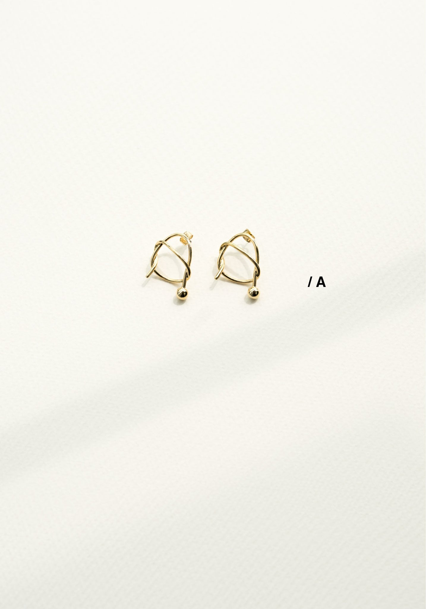 Alphabet Earrings A - whoami