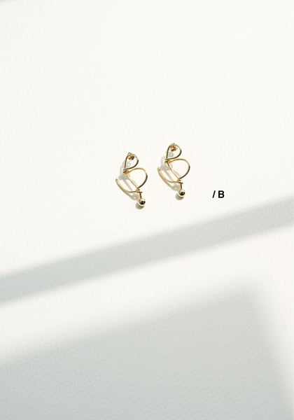 Alphabet Earrings B - whoami