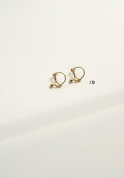 Alphabet Earrings D - whoami