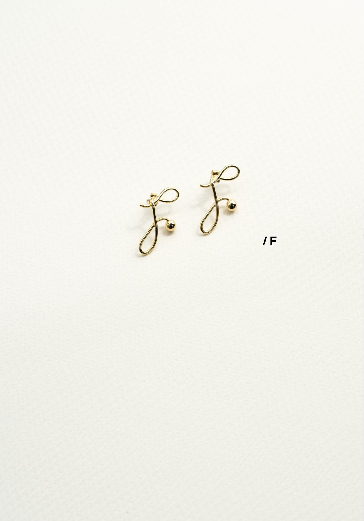 Alphabet Earrings F - whoami