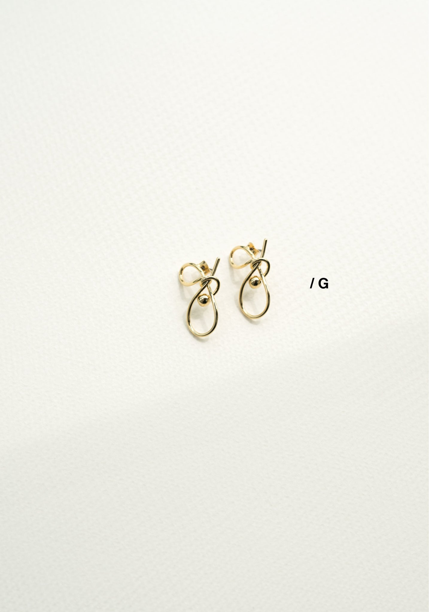 Alphabet Earrings G - whoami