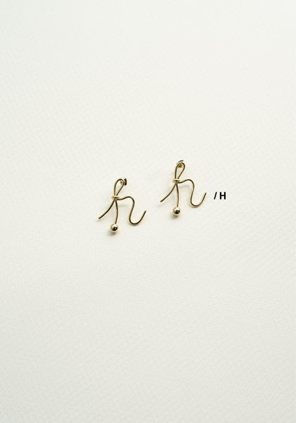 Alphabet Earrings H - whoami