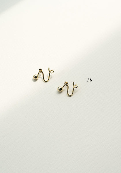 Alphabet Earrings N - whoami