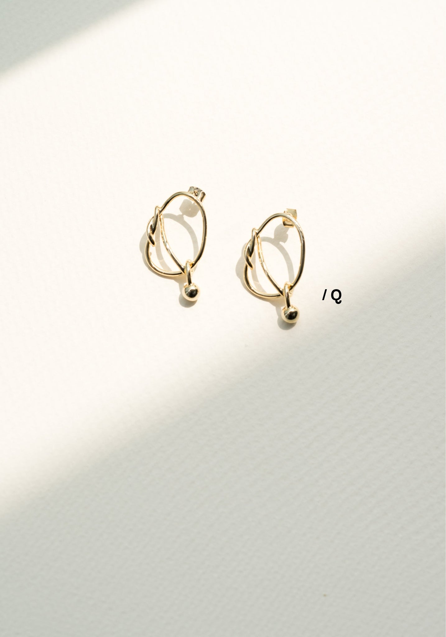 Alphabet Earrings Q