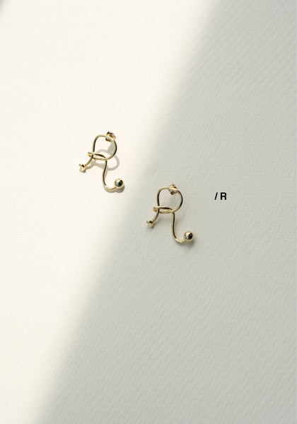 Alphabet Earrings R - whoami