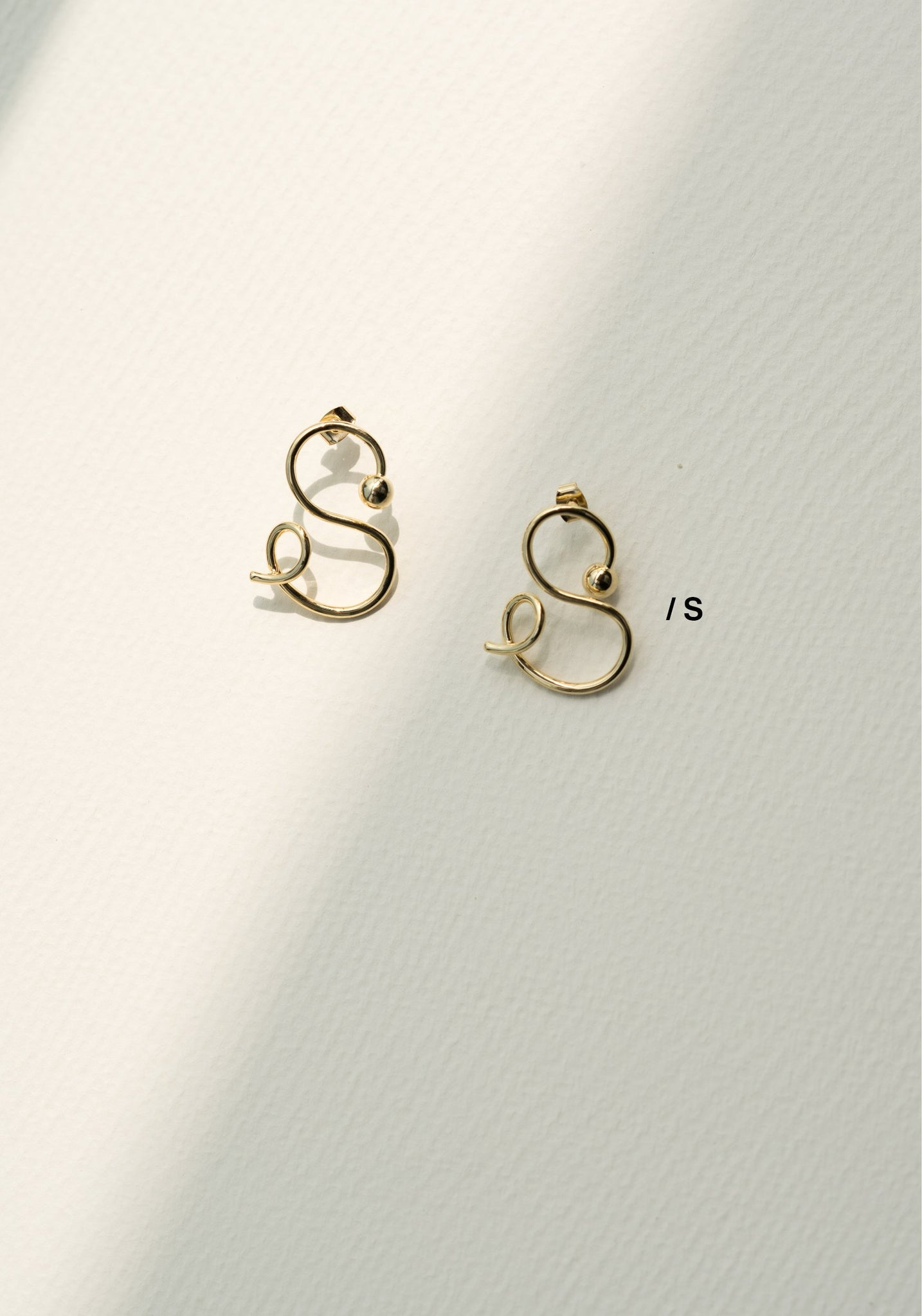 Alphabet Earrings S - whoami