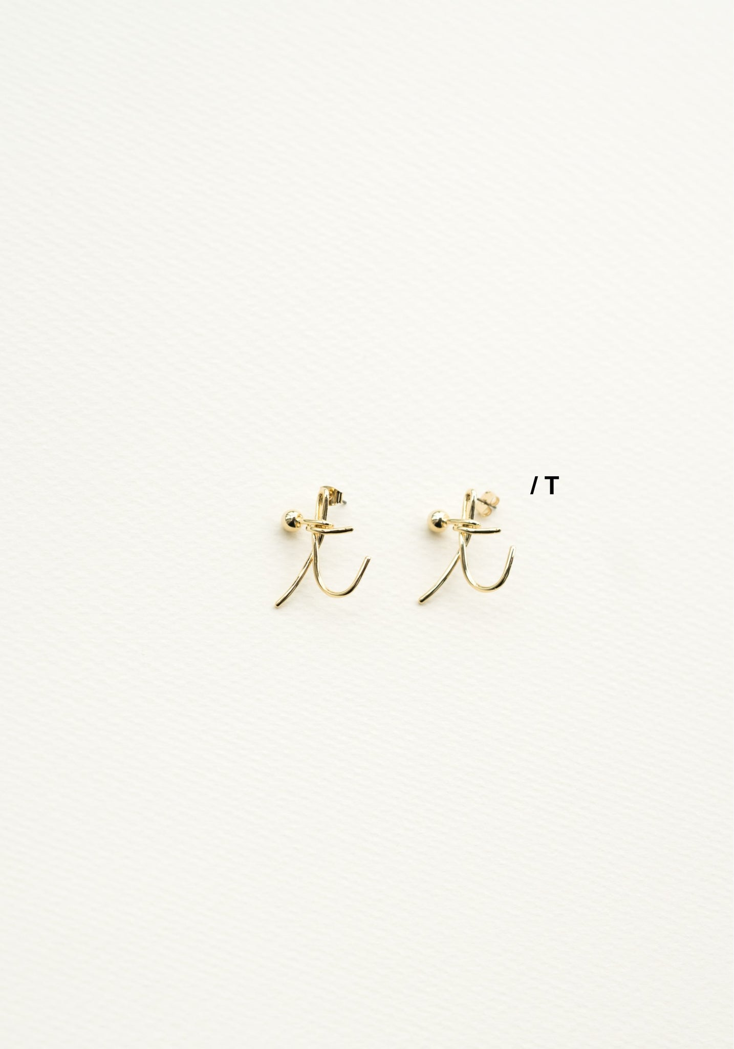 Alphabet Earrings T - whoami