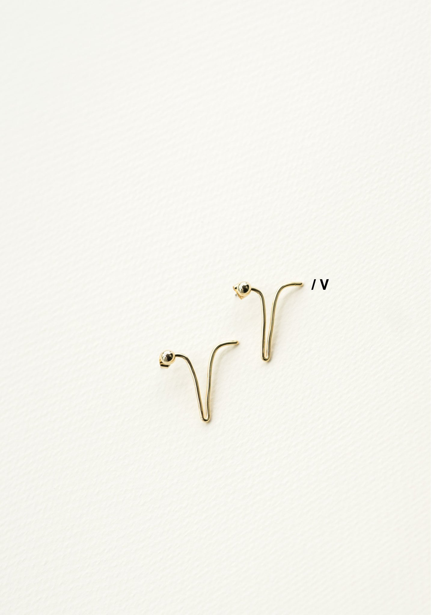 Alphabet Earrings V