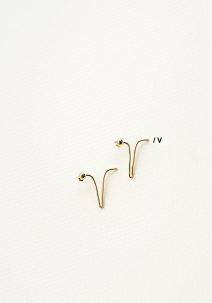 Alphabet Earrings V - whoami