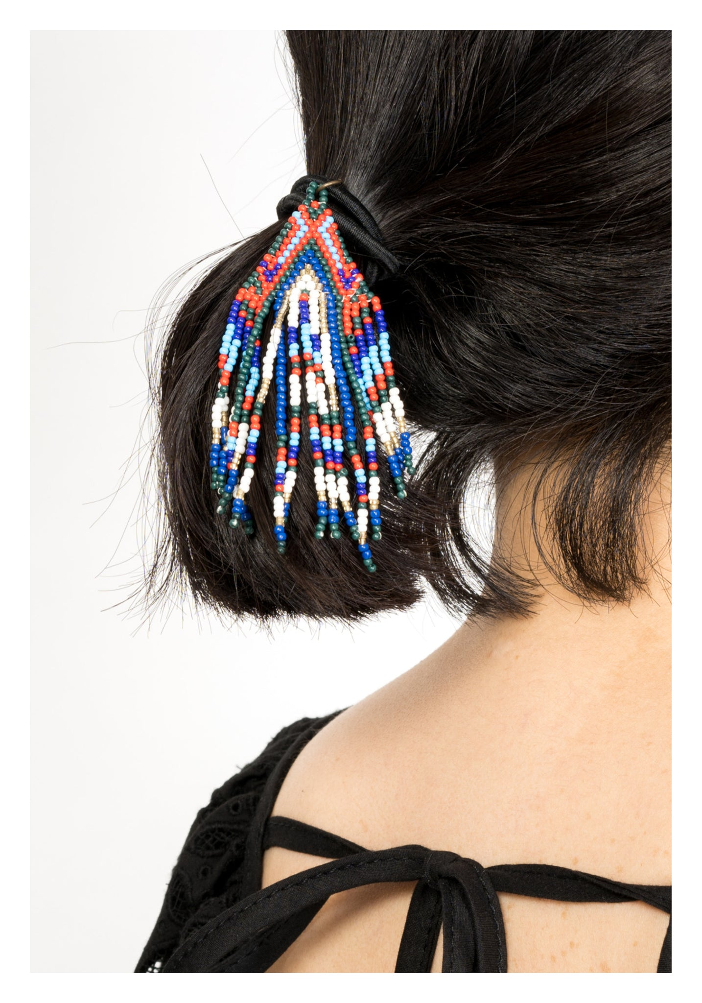 Arrow Beads Tassel Hairband Red