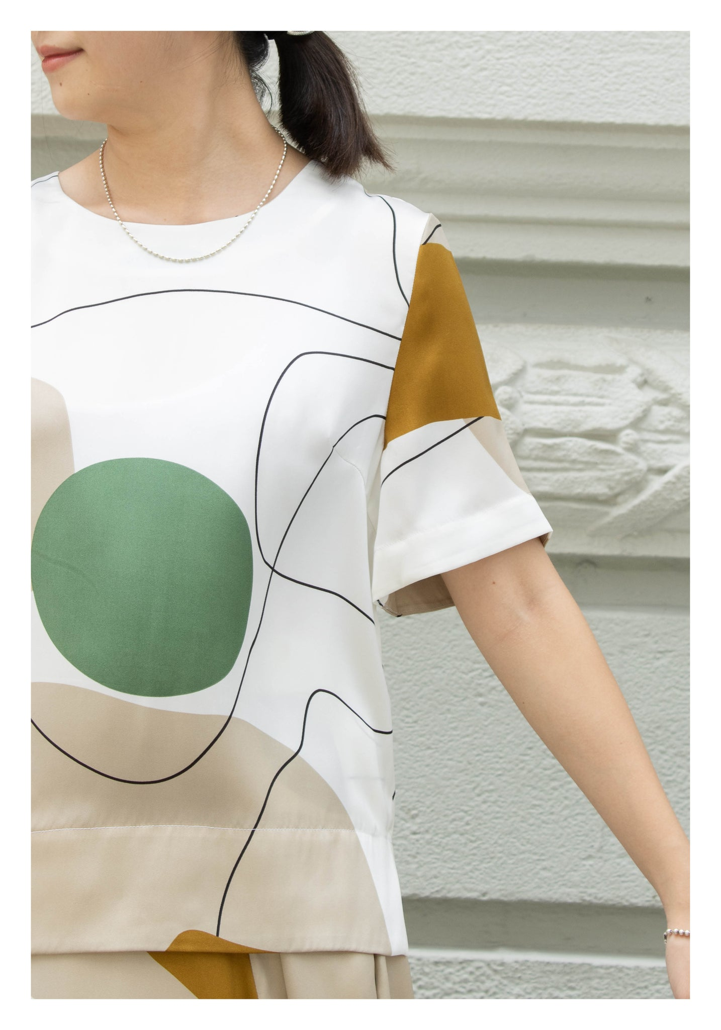 Artwork Simple Blouse Green - whoami