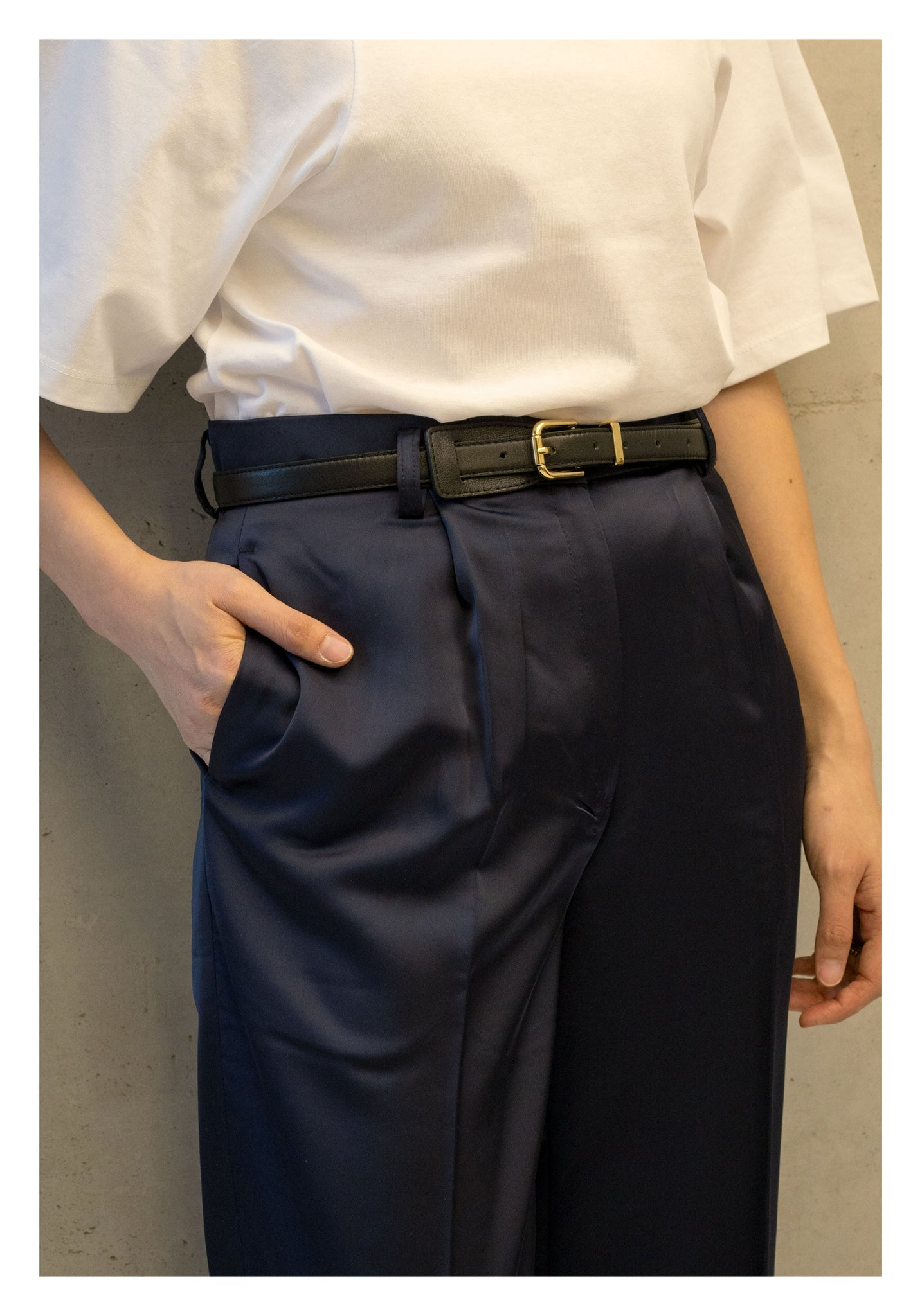 Back Plate Buckle Belt - whoami