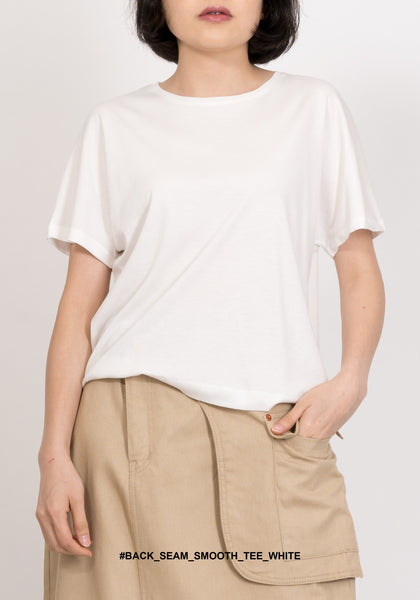 Back Seam Smooth Tee White