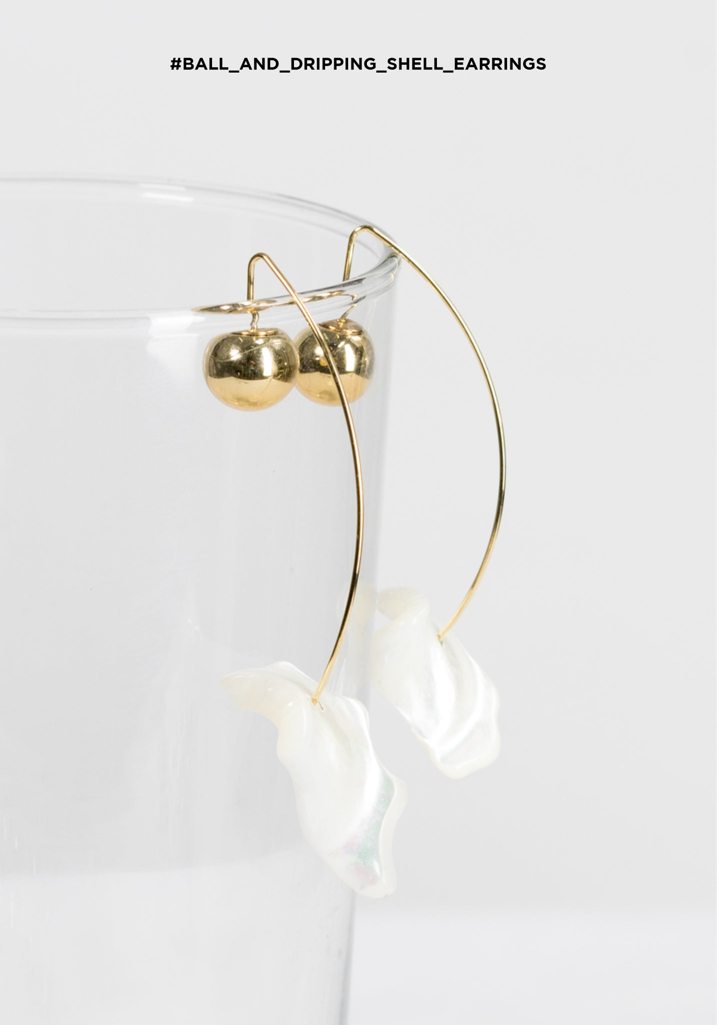 Ball and Dripping Shell Earrings - whoami