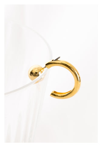 Ball and Half Hoop Earrings Gold - whoami