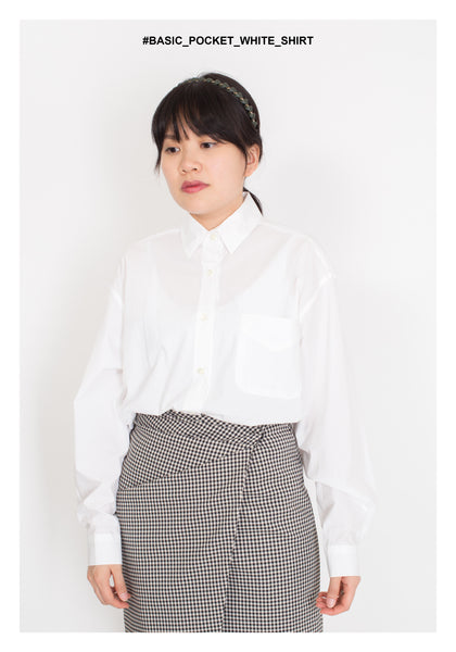 Basic Pocket White Shirt - whoami