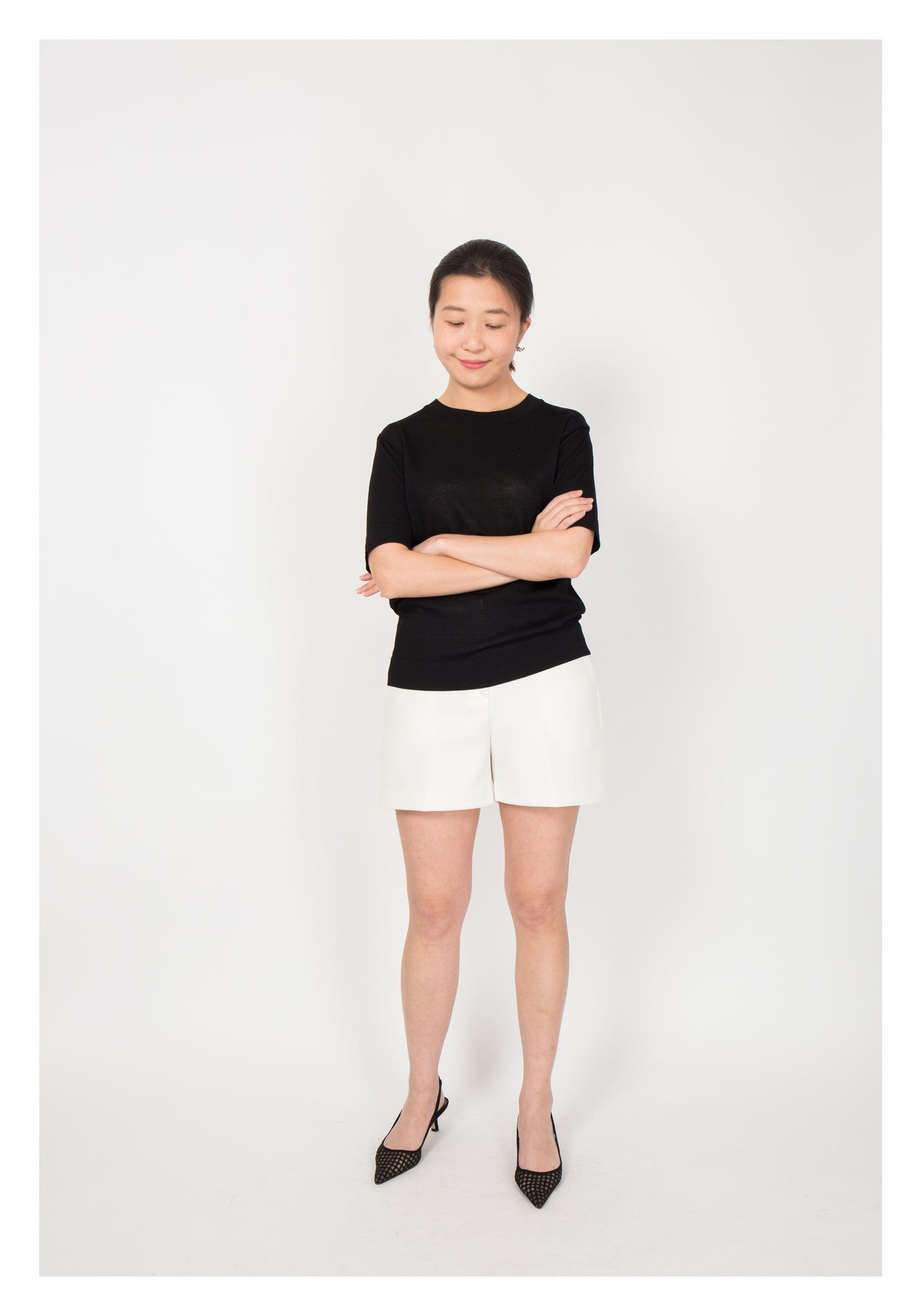 Basic Summer Knit Top Black - whoami