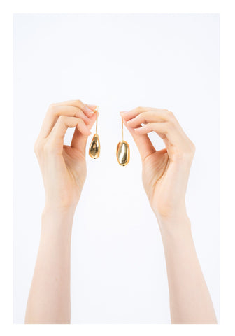 Bean Drop Earrings Golden - whoami