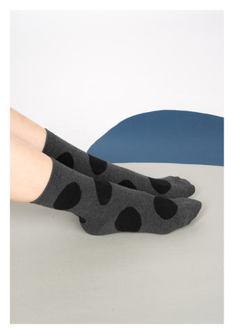 Big Dot Socks Black