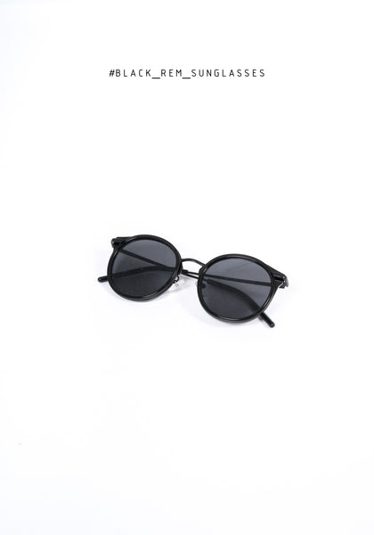 Black Rem Sunglasses - whoami