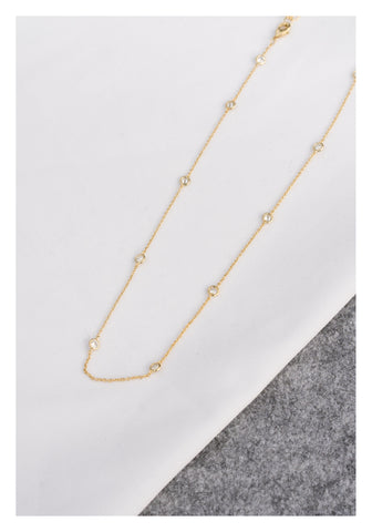 Bling Dot Gold Necklace