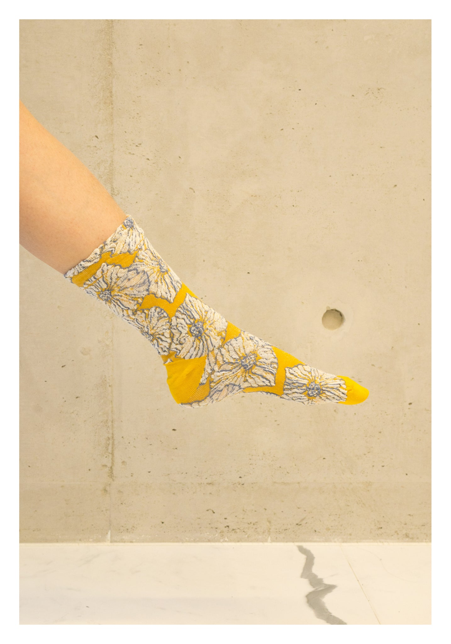 Colour Blossom Socks Yellow - whoami