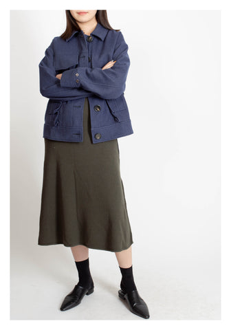 Blocking Belts Jacket Blue - whoami