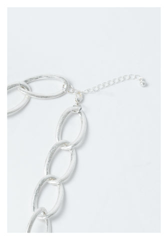 Bold Ellipse Chain Necklace Silver