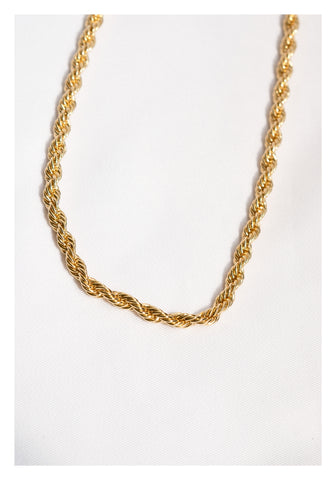 Bold Twisting Necklace Gold