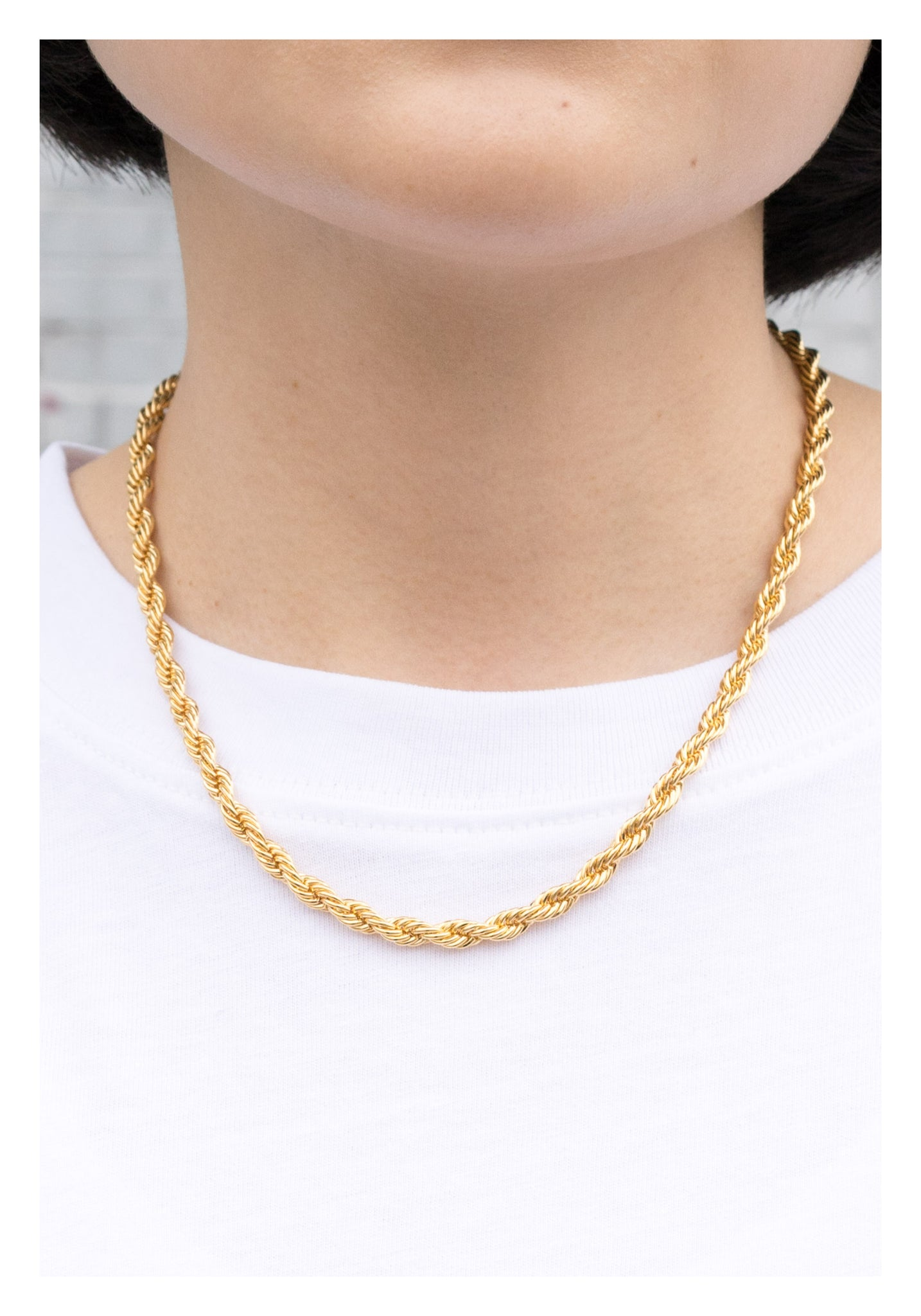Bold Twisting Necklace Gold - whoami