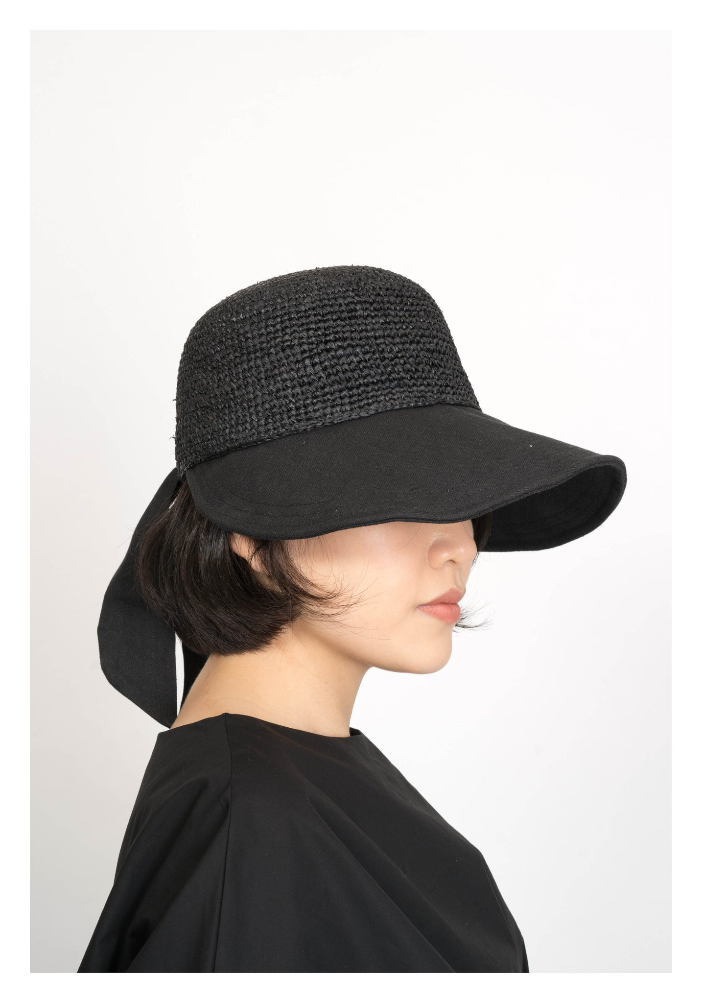 Back Tie Summer U Cap Black - whoami