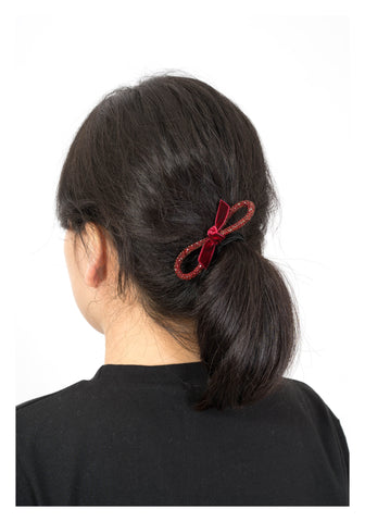 Sparkle Line Ribbon Hairband Red - whoami