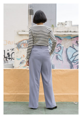 Belted Wide Leg Pants Lavender - whoami
