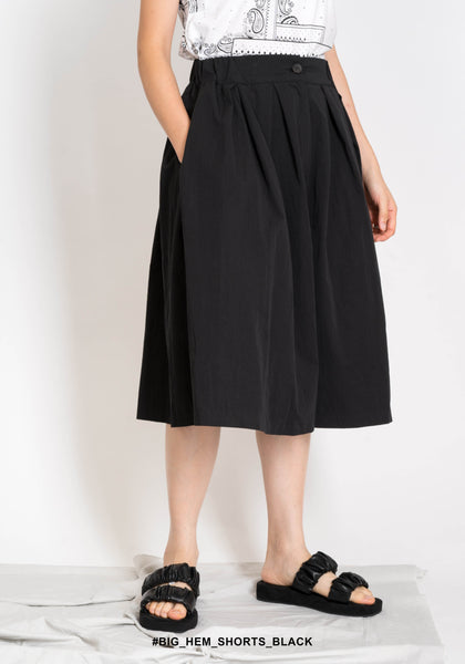 Big Hem Shorts Black - whoami