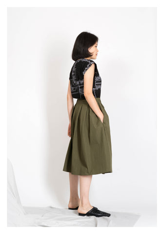 Big Hem Shorts Military Green - whoami