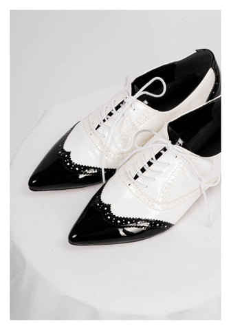Black And White Oxford Shoes - whoami