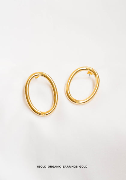 Bold Organic Earrings Gold - whoami
