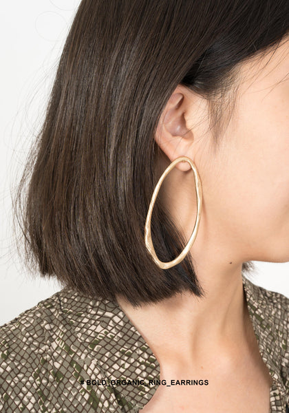 Bold Organic Ring Earrings - whoami
