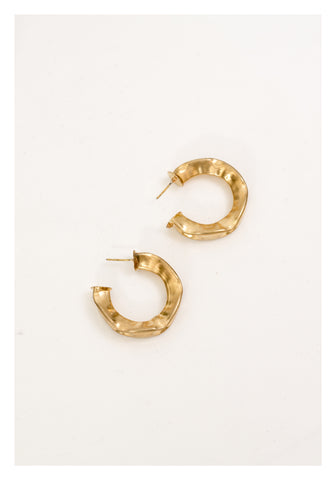 Bold Pinch Half Hoop Earrings - whoami