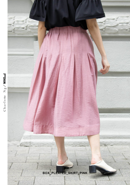 Box Pleated Skirt Pink