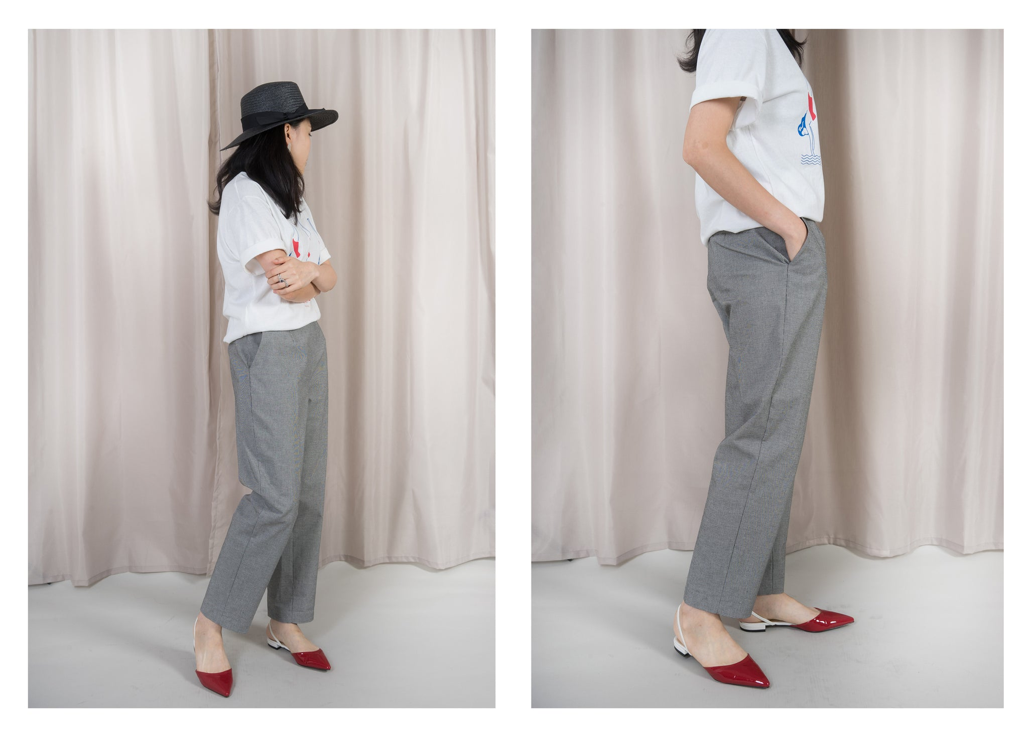 Chequer Taper Pants Set 2