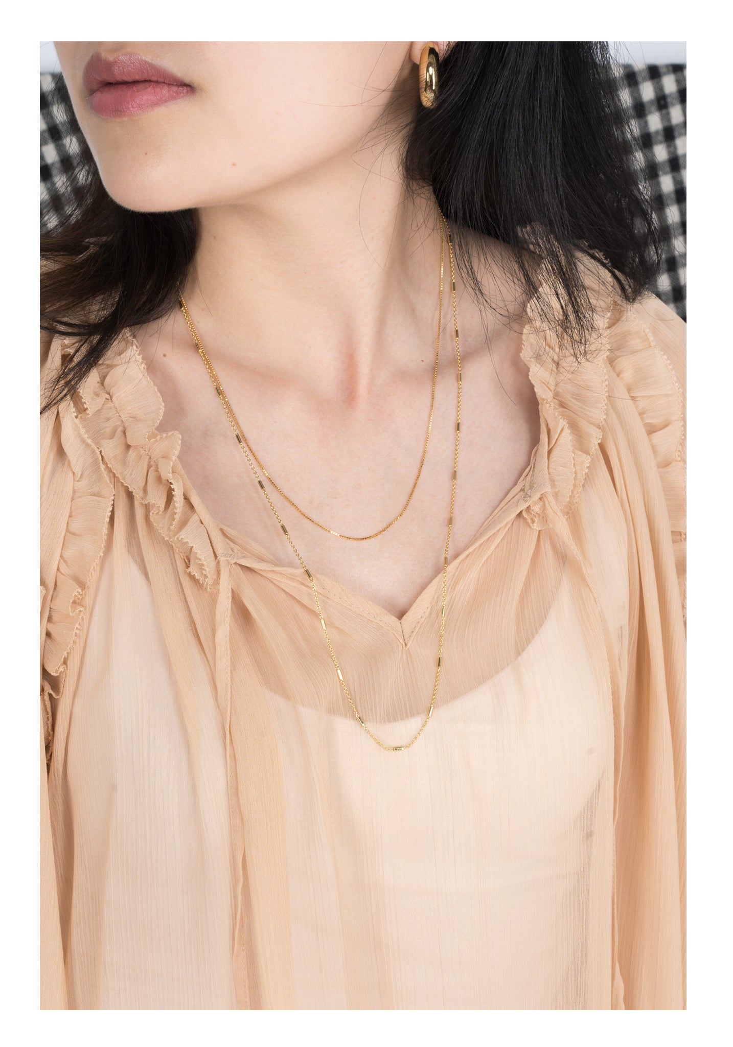 Golden Box Chain Necklace