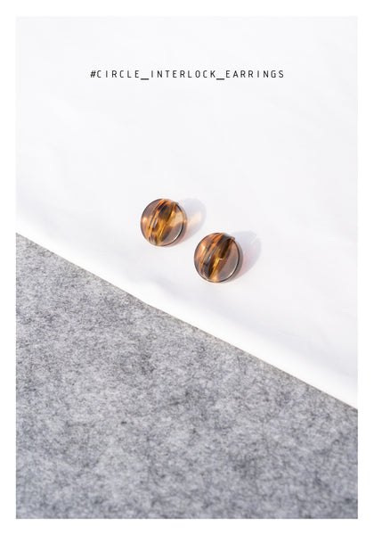 Circle Interlock Earrings