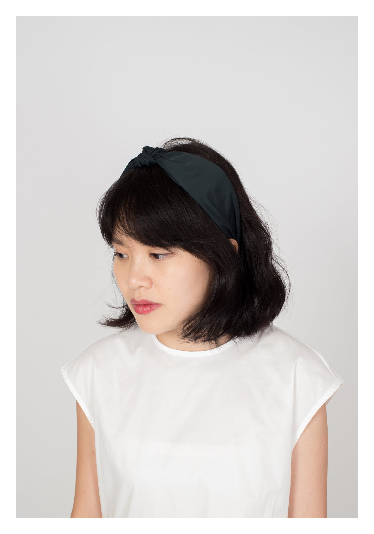 Classic Plain Knot Headband Dark Green