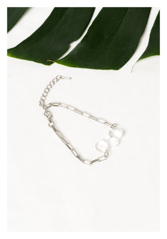 Clear Crystal Chain Bracelet - whoami