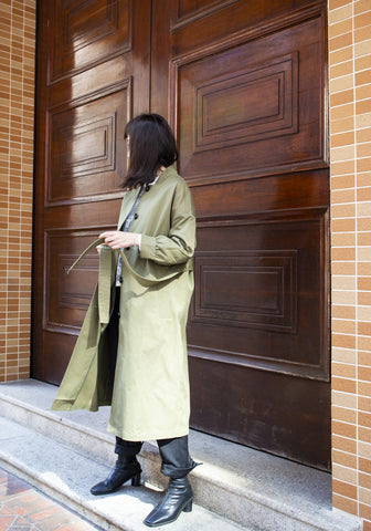 Catch Up With Me Coat Military Green - whoami
