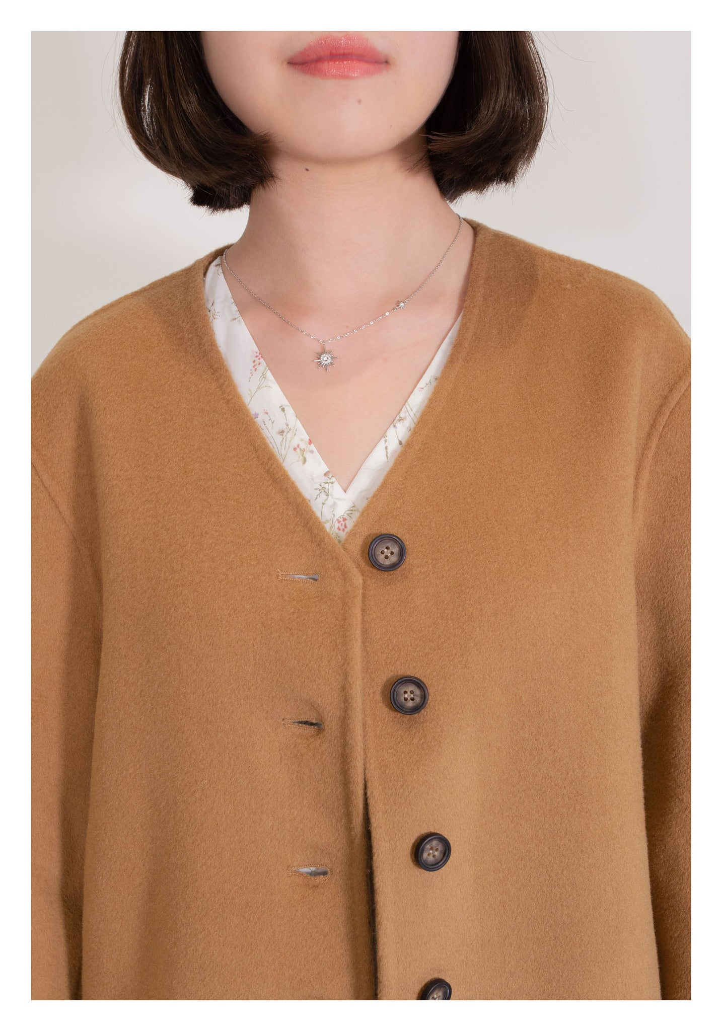 Daily Short Wool Coat Caramel - whoami