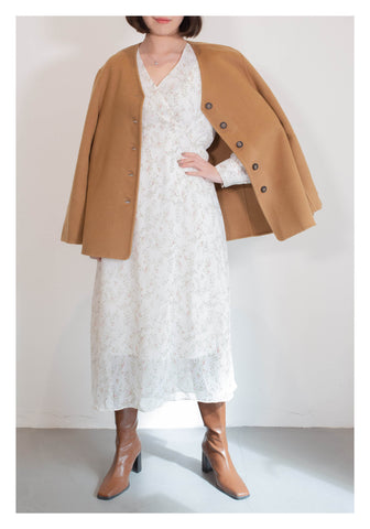 Daily Short Wool Coat Caramel